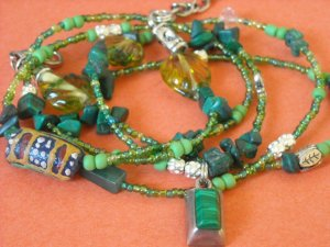 Wrap and Soul Malachite Waistbeads
